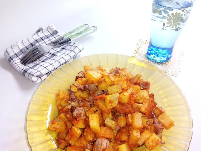Balado cumi kentang ,pedasnya bikin nagih