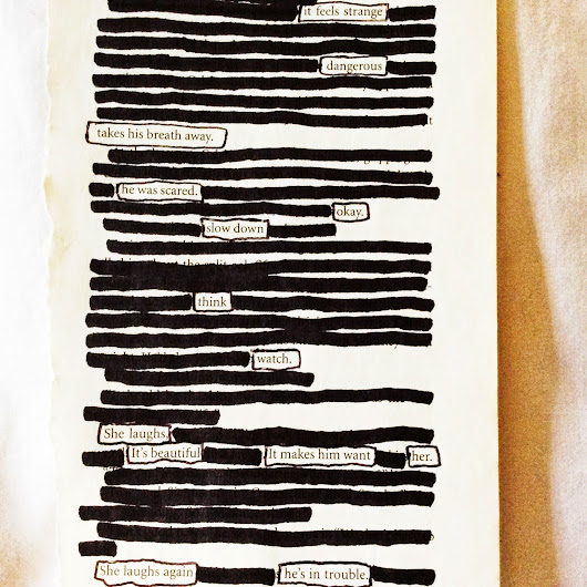 """The Laugh"" (Blackout Poetry)"