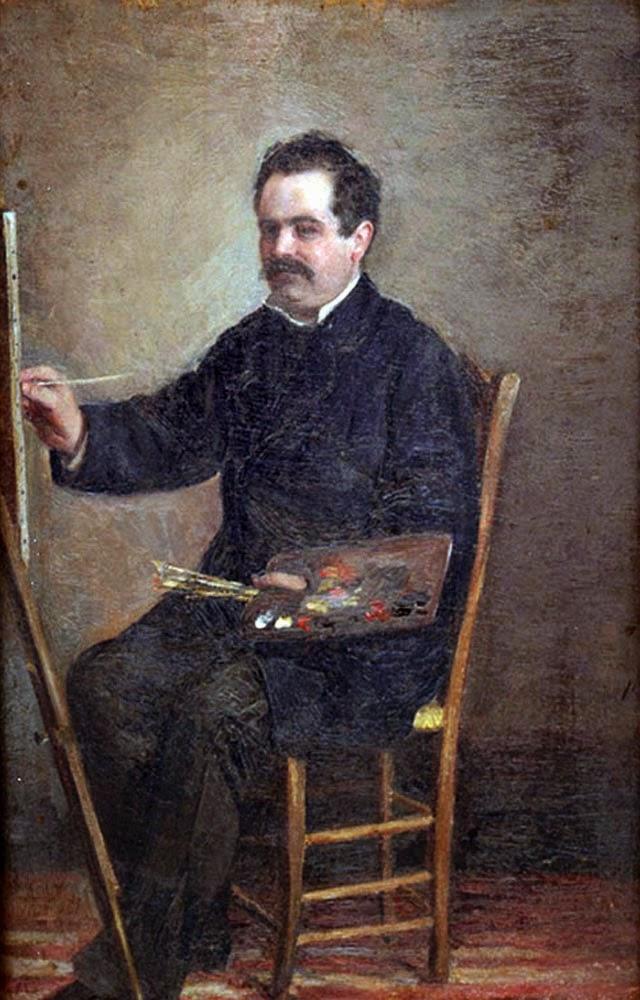 Manuel Gómez Moreno, Self Portrait, Portraits of Painters, Fine arts, portraits of painters blog, Painter Manuel Gómez Moreno