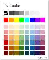 Text Colors Gmail font