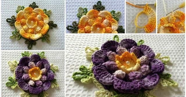 crochet sandal diagram flower charisma step by step tutorial learning    crochet     flower charisma step by step tutorial learning    crochet