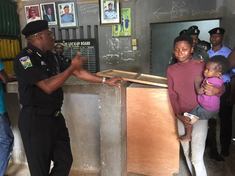 Commissioner of Police frees teenage mother arrested for stealing plantain, gives her N10,000