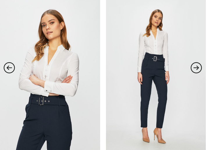 Camasa dama eleganta office slim fit moderna alba