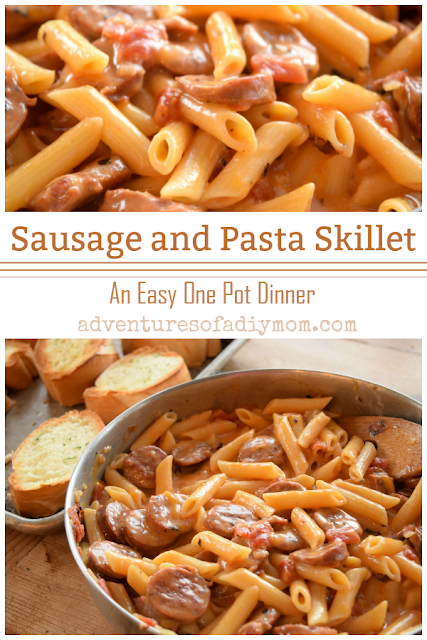 cheesy sausage and pasta skillet dinner