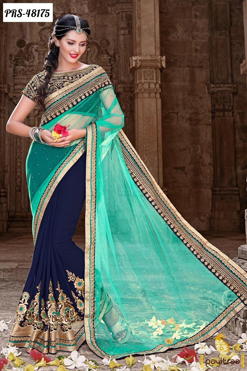 Latest Designer Lehenga Sarees Online Shopping For Diwali ...
