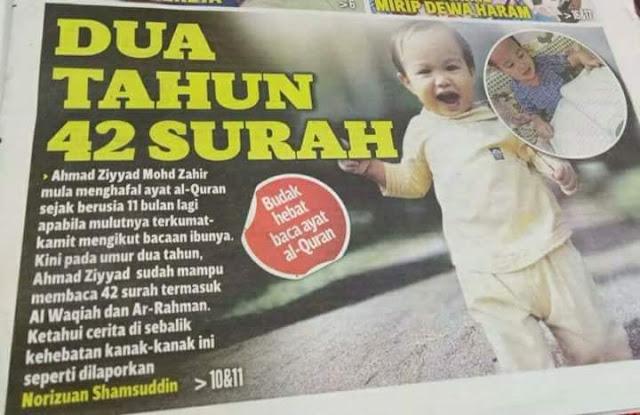 [Video] Masya Allah, Ini Rahasia Bayi 2 Tahun Hafal Al-Qur'an