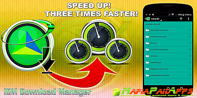 IDM+: Fastest download manager Apk MafiaPaidApps