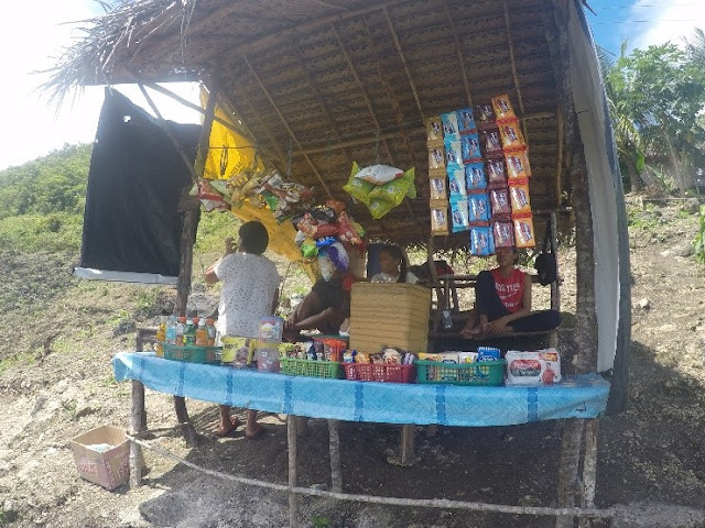Makeshift store along the hike trail toward Kawasan Canyoneering jump-off point