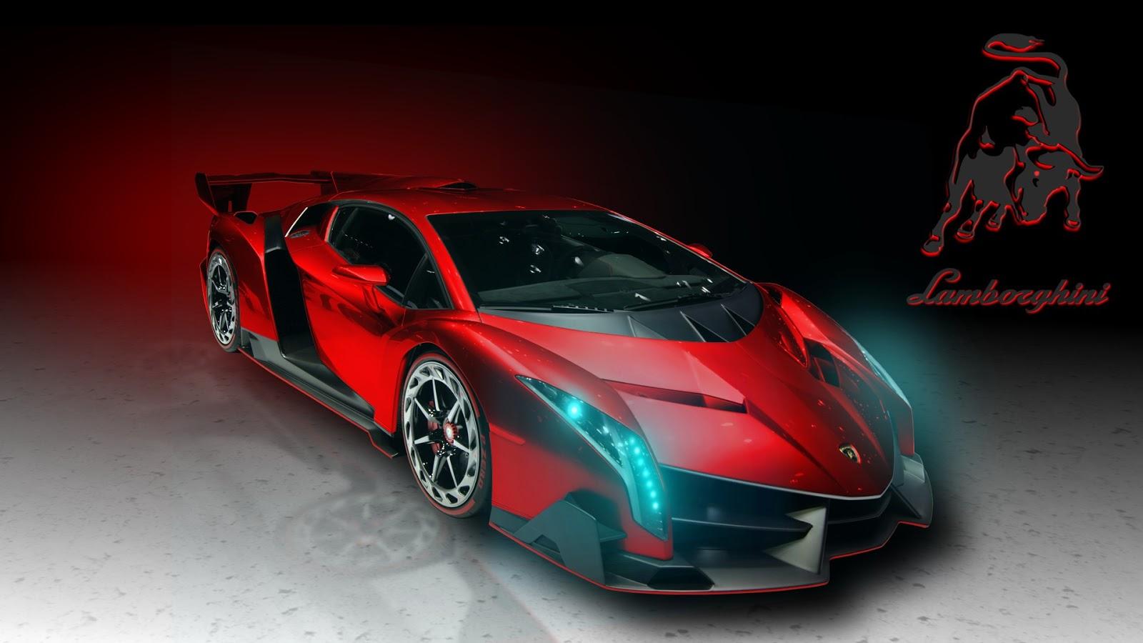 car s lamborghini in red