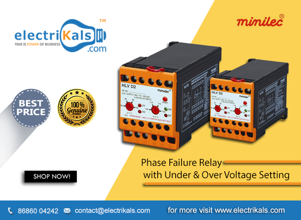 Electrikals Phase Failure Relay Buy Minilec Hlv D2 Din