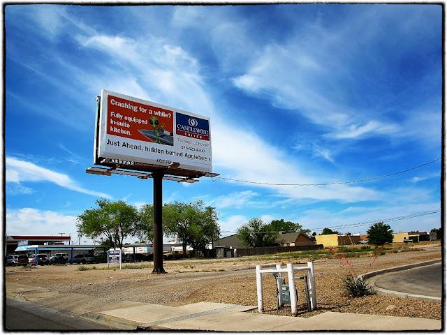 UFO condominium billboard, Roswell, USA