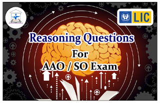 Reasoning Questions (Puzzles) for LIC AAO/IBPS SO Exams Set-41