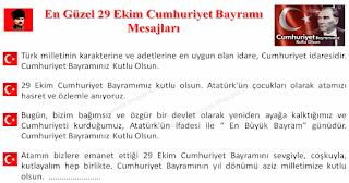 En Güzel 29 Ekim Cumhuriyet Bayramı Mesajları - Hazır Mesajlar - Komikler Burada