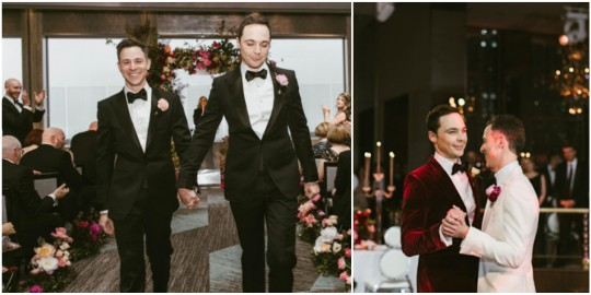 Photos from Big Bang Theory's Jim Parsons' wedding to fiance of 14 years Todd Spiewak