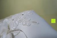 Muster: Hochzeit Ringkissen mit Satin Bogen 21cm* 21cm