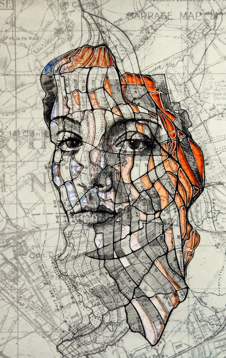 This Artist Draws Incredible Portraits on Maps