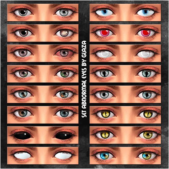 set abnormal eyes by glaza