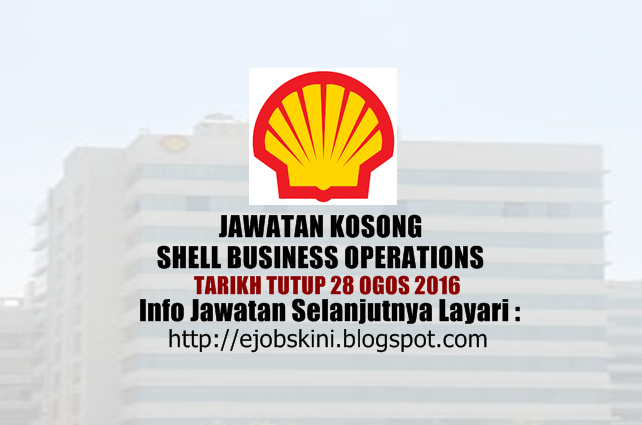 jawatan kosong di shell ogos 2016
