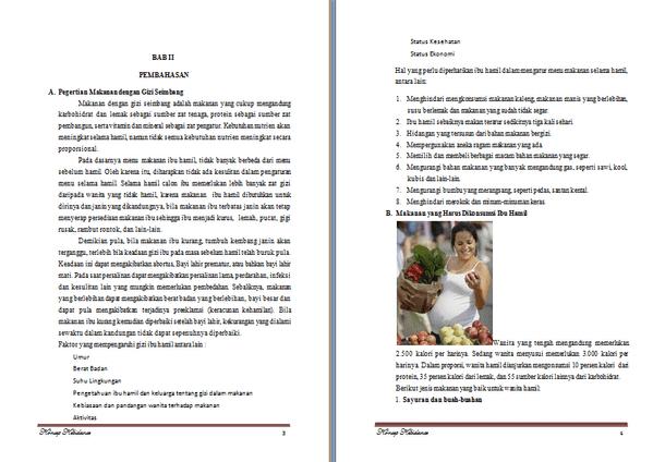 Contoh Makalah Gizi Lengkap Format Doc Docx Microsoft Word Contoh Docs