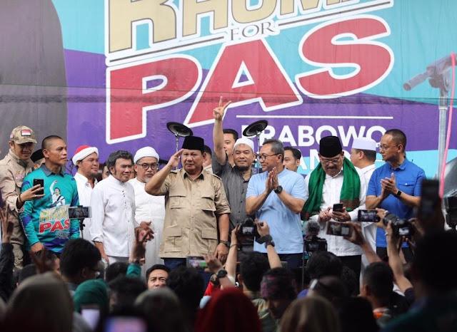 Prabowo Ajak Pendukungnya Teladani Kesabaran Nabi Muhammad SAW