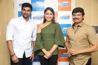 Pragya Jaiswal in a single Sleeves Off Shoulder Green Top Black Leggings promoting JJN Movie at Radio City 10.08.2017 111.JPG