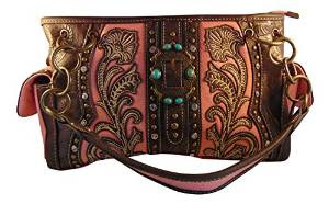 Women's Concealed Carry Purse with Western Embroidery Design