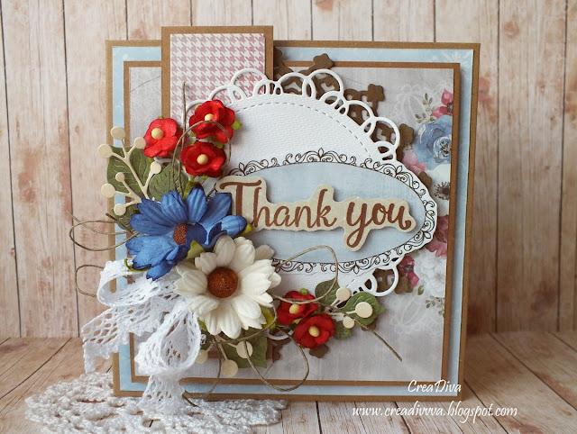 Wiosenne podziękowanie / Spring Thanks Card