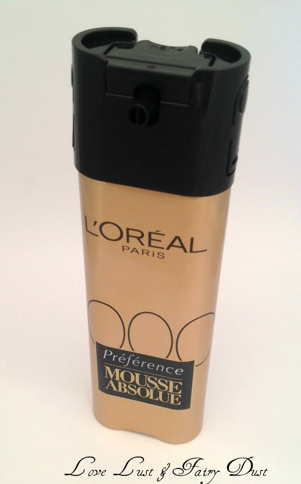 L'Oréal Paris Préférence Mousse Absolue packaging