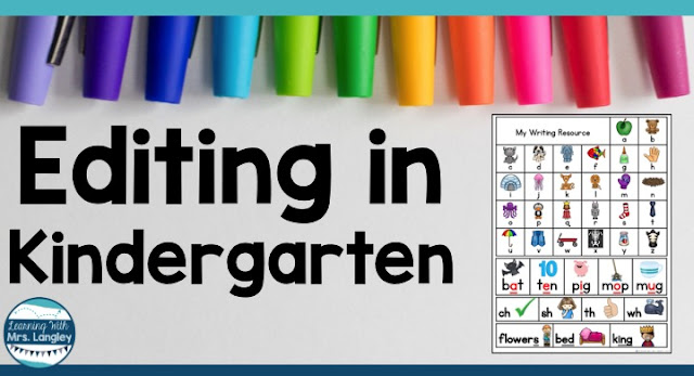 Editing writing can happen in kindergarten! Here is an easy lesson that will get your students writing and editing. There is a free writing folder resource included that students can use in a center or during whole group writing time.