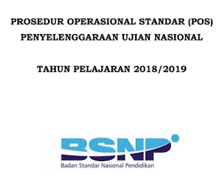 Download POS/Prosedur Operasional Standar UN (Ujian Nasional) UNBK/UNKP Jenjang SMP-SMA-SMK Tahun Pelajaran 2018/2019