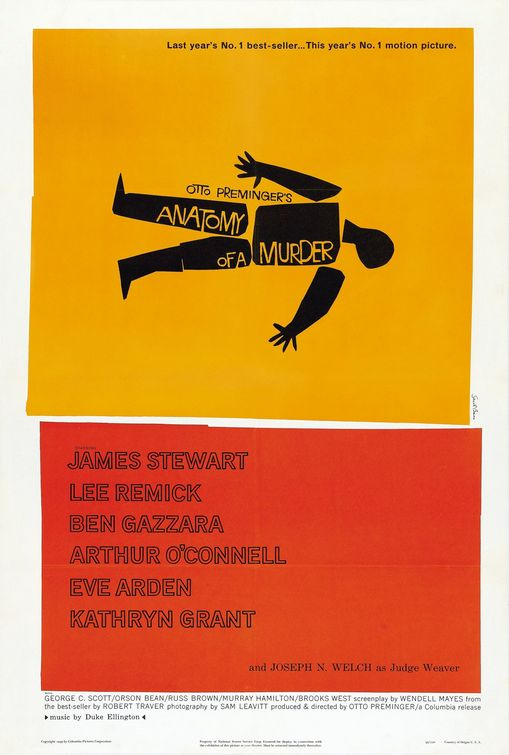 Saul Bass. Doctor Ojiplatico. Anatomy of a murder