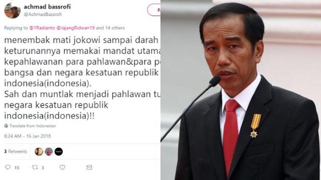 Segera Diciduk! Heboh Akun Twitter Orang Ini Ancam Akan Bunuh Presiden, Meresahkan  Komentar Netizen: Anda Waras?