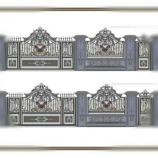 Desain Pagar Besi Tempa Klasik untuk Rumah Mewah agar terlihat lebih kokoh dan Elegan