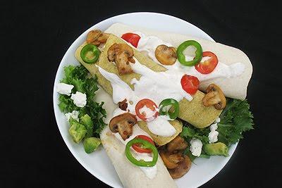 Chipotle Black Bean, Millet and Quinoa Burritos