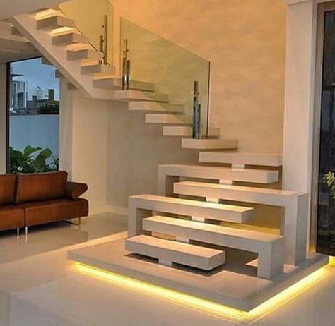 Cầu thang hiện đại với những bậc thang thiết kế độc đáo