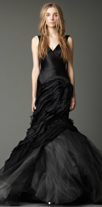 V Neck Soft Mermaid Gown With Washed Multi Layered Flanges Organza Scallops And Pleaded Ruffled Tulle Skirt