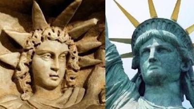 comparações entre estatua da liberdade e Serimaris