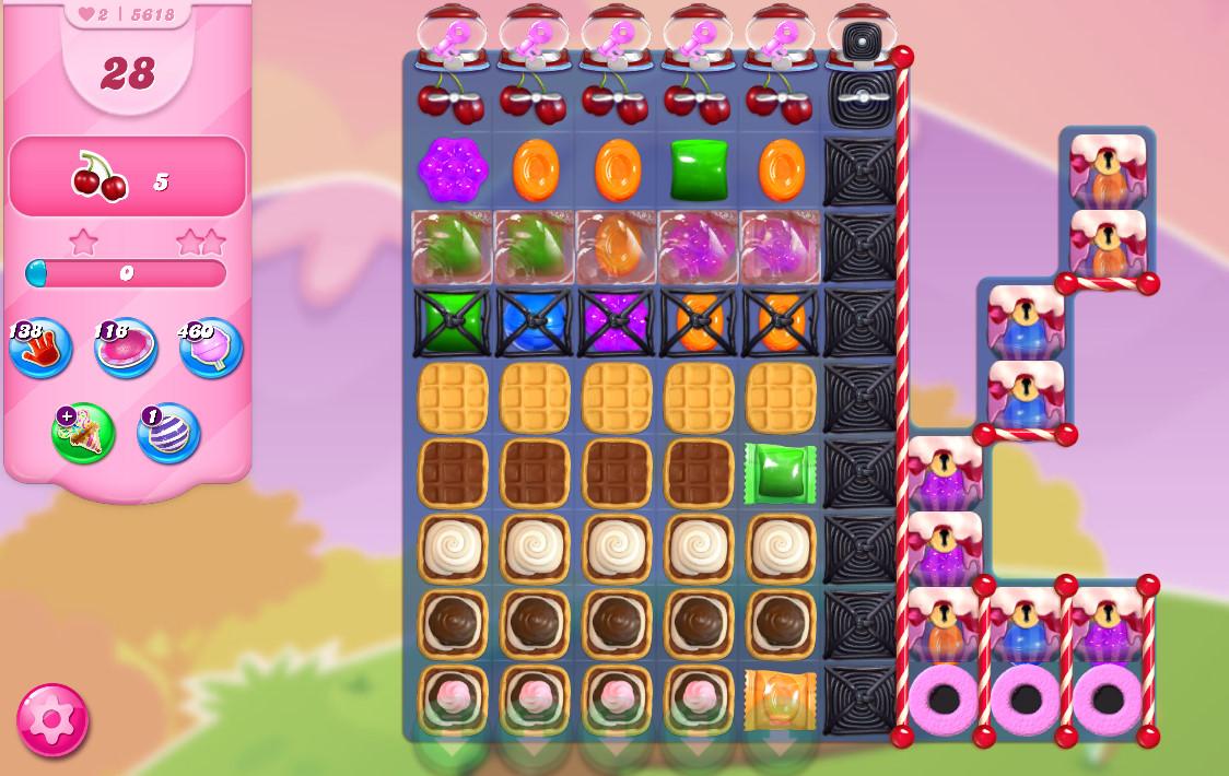 Candy Crush Saga level 5618