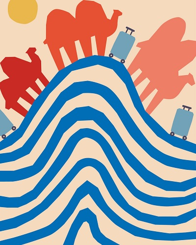 ilustraciones por Anna Kövecses | creative line drawings, cool stuff, pictures | imagenes bellas chidas imaginativas, dibujos bonitos hermosos, juego de lineas y formas continuas