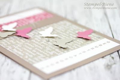 Stampinup Schmetterlingskarte; Geburtstagskarte Schmetterlinge; Schmetterlingskarte; Stampinup Blog; Matchthesketch; Stempel-Biene