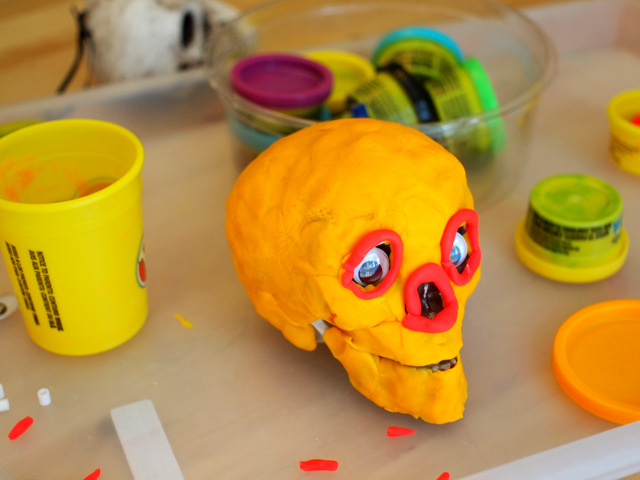 play doh sugar skull day of the dead activity kids