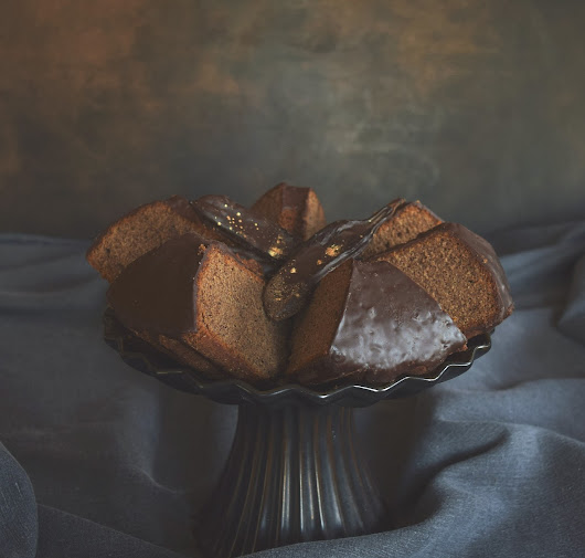 Carob and Hot Chocolate Bundt Cake #Bundtbakers