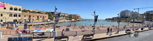 Plaże na Malcie - Mellieha Bay (Ghadira Bay) w miejscowości Mellieha po zachodniej stronie Malty, oraz Ramla Bay na wyspie Gozo, St. George's Bay położona w rozrywkowej dzielnicy w St Julians - Paceville