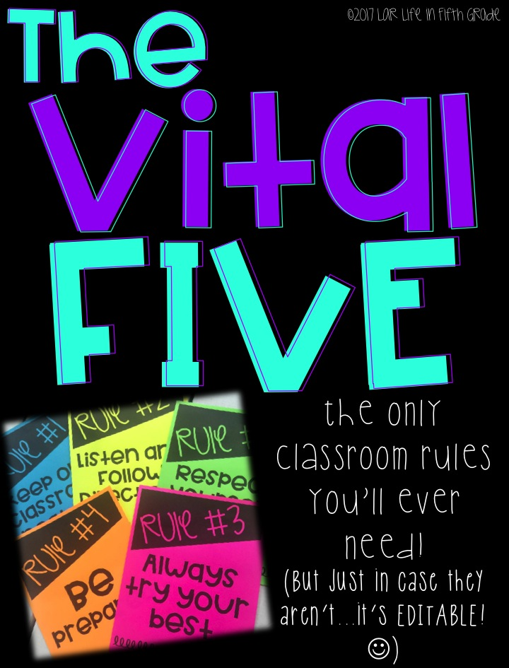 Classroom Rules for Fifth Grade | Life in Fifth Grade