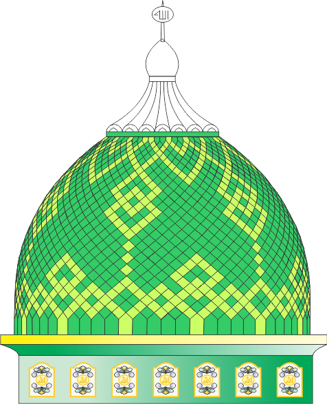 gambar kubah masjid  (motif) masjid