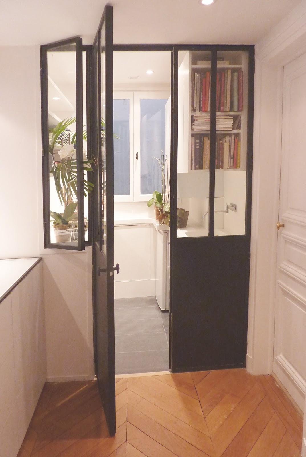 am nagement d 39 une entr e et d 39 une petite cuisine paris vi me marion millet architecte dplg. Black Bedroom Furniture Sets. Home Design Ideas