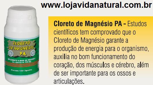 Cloreto de Magnésio P.A 100 Cápsulas de 500mg
