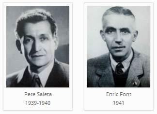 Los ajedrecistas del Club d'Escacs Mataró Pere Saleta y Enric Font