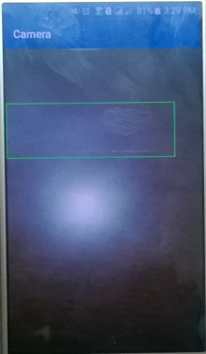 Draw a rectangle on SurfaceView used by camera on android