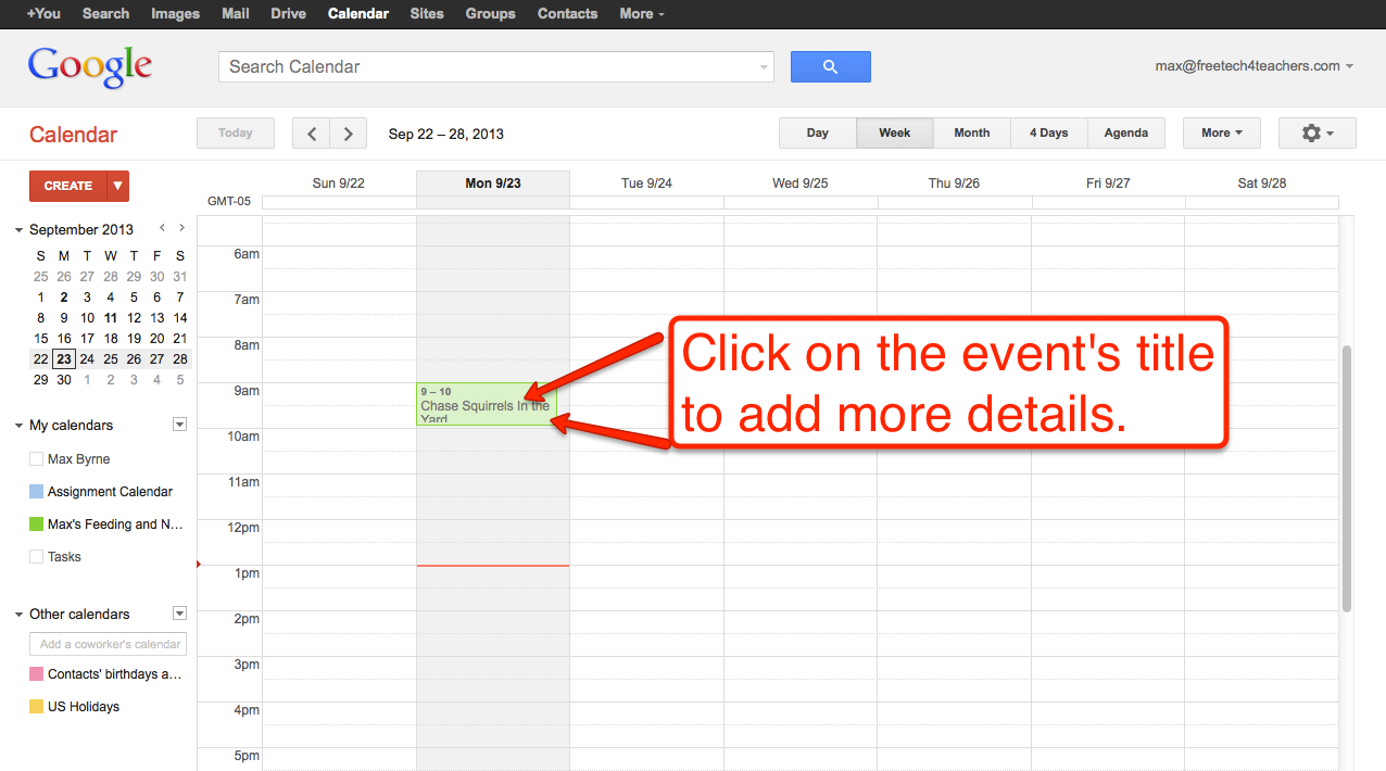how to make google calendar shorter